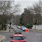 Primrose Hill Road at the junction with Adelaide Road, where the crash took place
