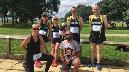 Six from North Herts Road Runnerscompleted the SheepyShuffle Half Marathon, the group using the path round Grafham Water