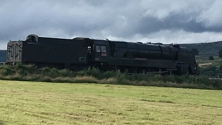 The steam train installation for the new Mission Impossible 7 film