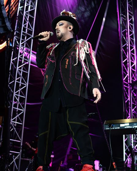 Boy George of Culture Club performing at theHeritage Live concert atAudley End House, Saffron Walden.