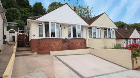 The bungalow in Clifton Road, Paignton.