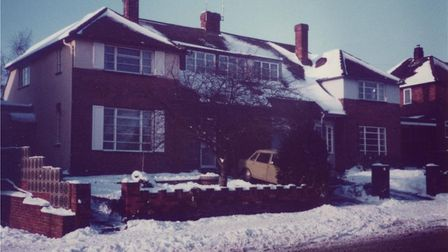 Mary's former home in Piggottshill Lane, Harpenden, pictured in the winter of 1981.
