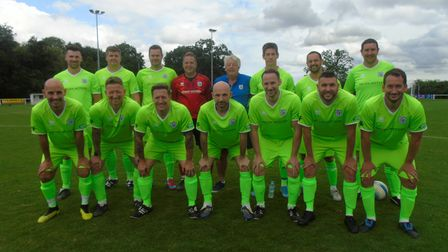 Ray Thompson's team line up for the Lee Thompson memorial match