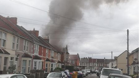 PICTURES: Fire crews tackle blaze in Weston flat