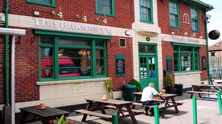 The Blueberry in Norwich, pub of the week.; Photo: Bill Smith