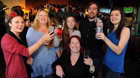 The new manager of the Blueberry Music House in Cowgate, Sarah Burns, front, and some of her team. F