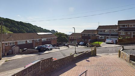 The sea view from the property in Shorton, Paignton.