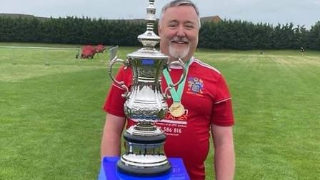 Paul Murray of Wisbech Town's walking football team collapsed midway through a match