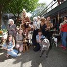 Dog Show at Mother Cafe Mansfield Road on 14.08.21.Pictured host Our Portia with contestants and pr