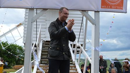 Sam Smith returned to Chishill, where they spent their childhood, to reopenthe windmill in 2019 after restoration work.