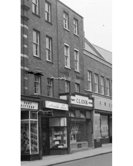 Cooks in Wisbech High Street around the 1960s