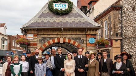 The cast of Our Town at Sheringham Little Theatre.