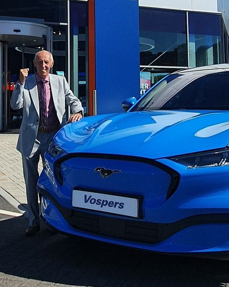 Peter Vosper with his Ford Mustang Mach E