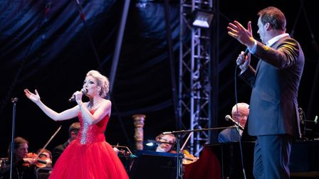Felixstowe singer Christina Johnston performed with Russell Watson at Audley End