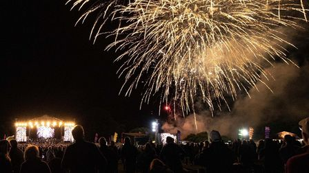 Fireworks at the Last Night of the Heritage Proms concert