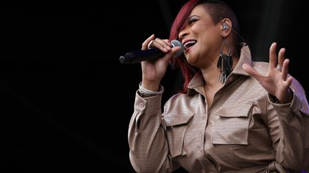 Gabrielle performing at the Heritage Live concert at Audley End onAugust 12, 2021.