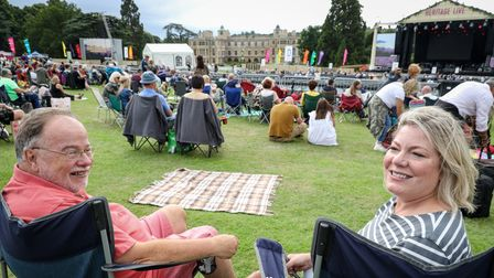 Jezz and Barbara picked their spot early for the Heritage Live Concert at Audley End. Picture: Celia Bartlett