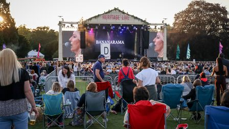 Settling down to some Bananarama at the Heritage Live concert at Audley End House. Photo: © Celia Bar