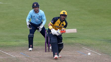 Hamish Rutherford in batting action for Glamorgan againstEssex Eagles