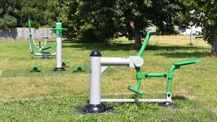 Some of the outdoor gym equipment in Oulton Broad.