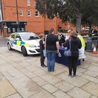 Officers at a previous hate crime prevention event in Royston