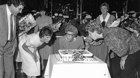 Simon Goodman (left) at Florida's 50th anniversary party in 1986.