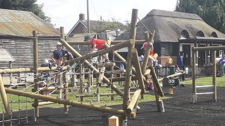 The new play equipment at Eltisley.
