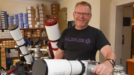 Ian Knight, co-owner of Altair Astro on Red Lion Street in Aylsham. Picture: Danielle Booden