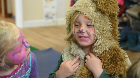 Face painting at Poppies Day Nursery in North Walsham. Picture: Danielle Booden