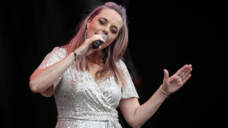 Joanna Eden performing at Heritage Live atAudley End House. Photo: © Celia Bartlett