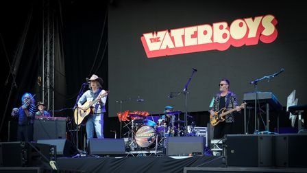The Waterboys on stage at Heritage Live, Audley End House. Photo: © Celia Bartlett