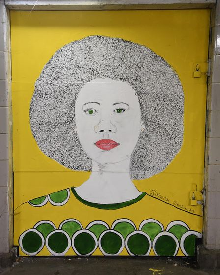Street art in the Underground Gallery in the St Stephens underpass. Picture: DENISE BRADLEY