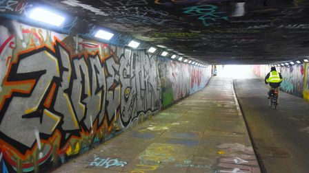 Street art in the Pottergate underpass. Picture: DENISE BRADLEY
