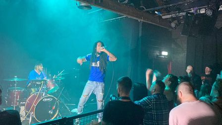 Bob Vylan donned an Ipswich Town t-shirt throughout the gig