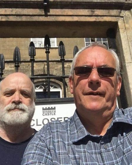 Councillors Dave Patrick (right) and Philip Wing denied access to Wisbech Castle. Picture; D PATRICK