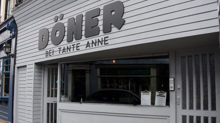 The new vegan kebab restaurant and takeaway, Doner Bei Tante Anne, in Wensum Street. Picture: DENISE
