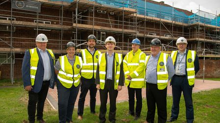 BTS Property Solutions staff with Cllr Damian White.