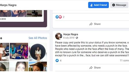 The Oaklands College deputy principal made historic Facebook posts about self-harm.
