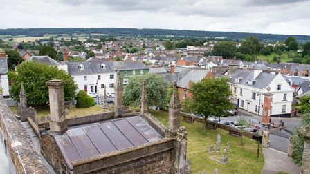 One of the outstanding views on offer at the open day at Ottery St Mary Church. Ref sho 29 19TI 7720