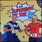 Tracy and Brynley Giddings helped support the Superhero Run in Margate