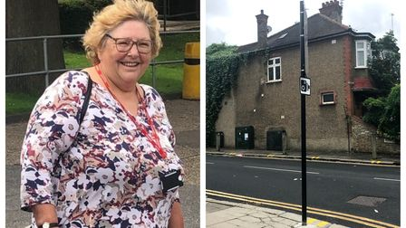 Cllr Zena Brabazon and the junction of Middle Lane and Elmfield Avenue