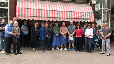 Gary Wheeler and Rob from Midhurst Butcher's were given a fitting send-off in Muswell Hill on Saturday