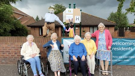 The Warren Care Home in Sprowston had its own scarecrow and Peter Rabbit for the trail