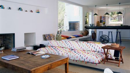 A well-placed sofa is an easy way to zonea living space.