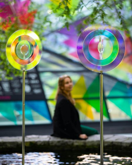 EDITORIAL USE ONLY Round and Round by Martin Richman is unveiled as part of the Summer Lights festi