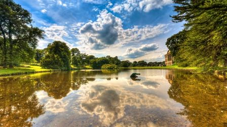 The pond at Lyme Park