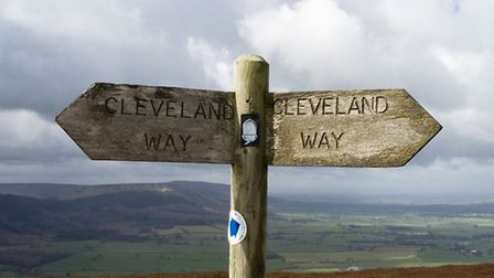 Directional signpost on Cleveland Way