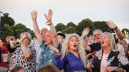Getting up and dancing to Bananarama at Heritage Live Audley End Photo: © Celia Bartlett