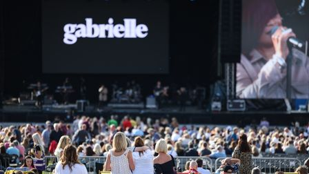 Enjoying Gabrielle as the opening act at the Heritage Live concert at Audley End.