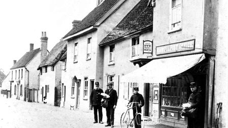 The post office at Ashwell High Street in about 1896